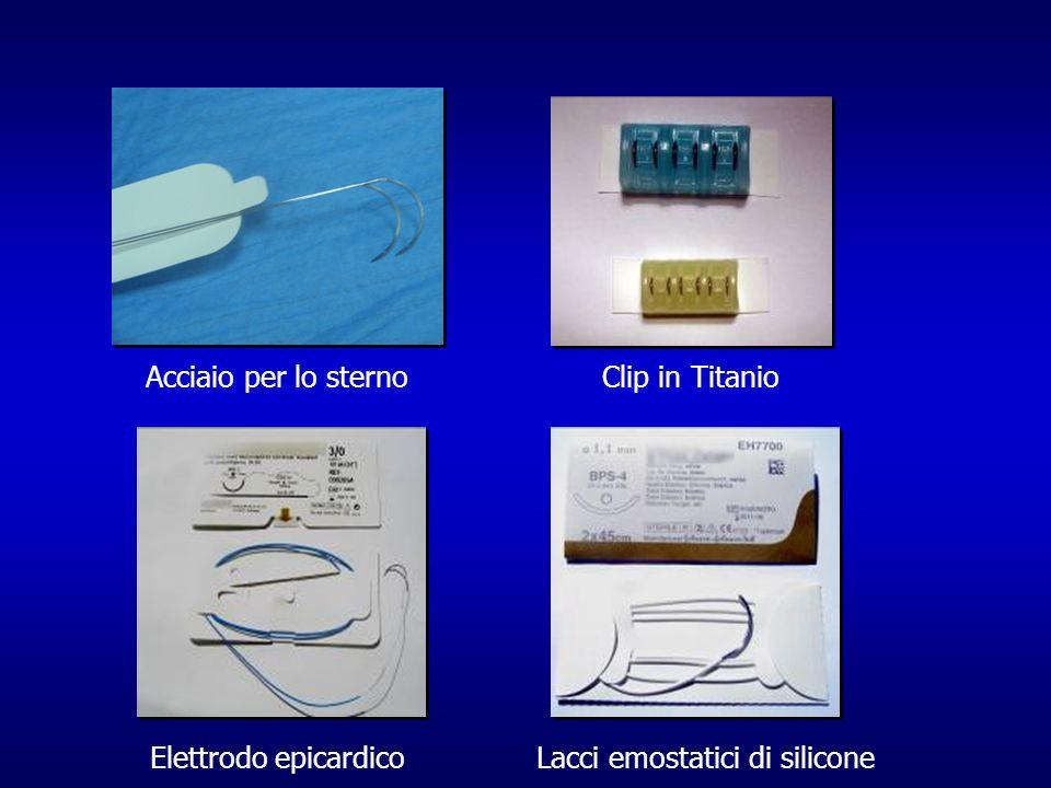 Acciaio per lo sternoClip in Titanio Elettrodo epicardicoLacci emostatici di silicone
