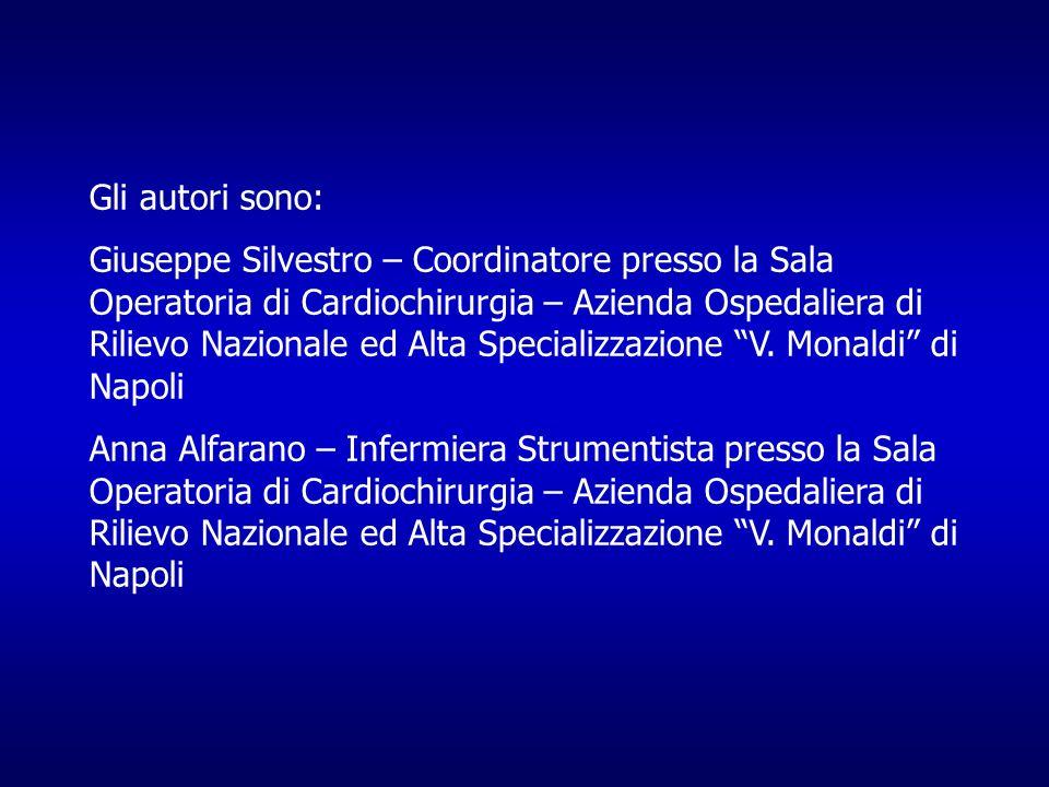 Gli autori sono: Giuseppe Silvestro – Coordinatore presso la Sala Operatoria di Cardiochirurgia – Azienda Ospedaliera di Rilievo Nazionale ed Alta Spe