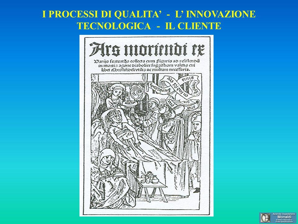 I PROCESSI DI QUALITA - L INNOVAZIONE TECNOLOGICA - IL CLIENTE