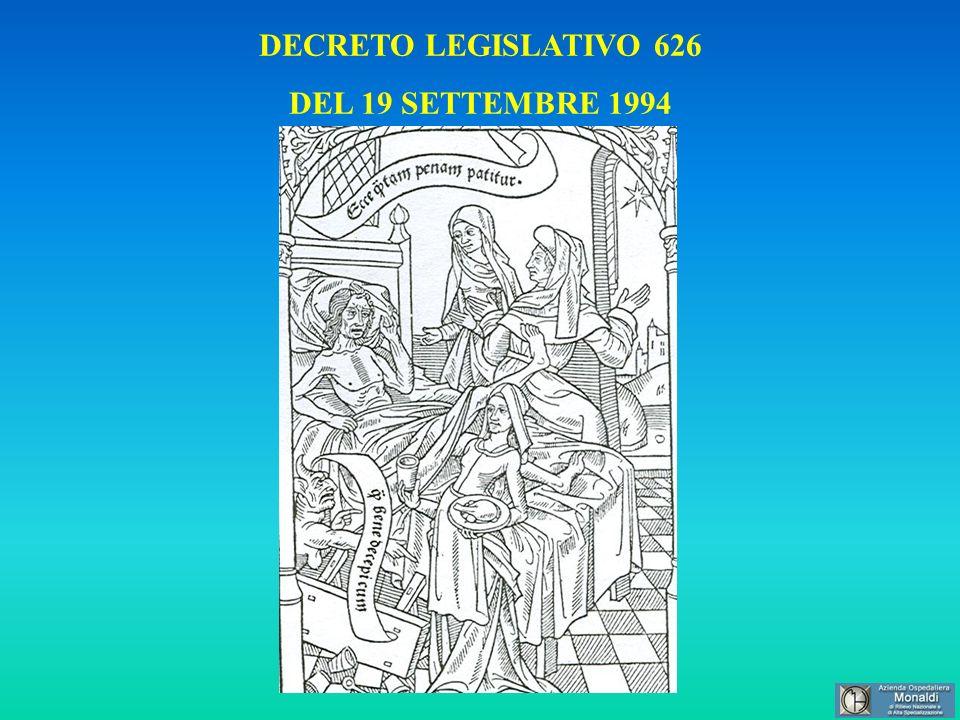 DECRETO LEGISLATIVO 626 DEL 19 SETTEMBRE 1994