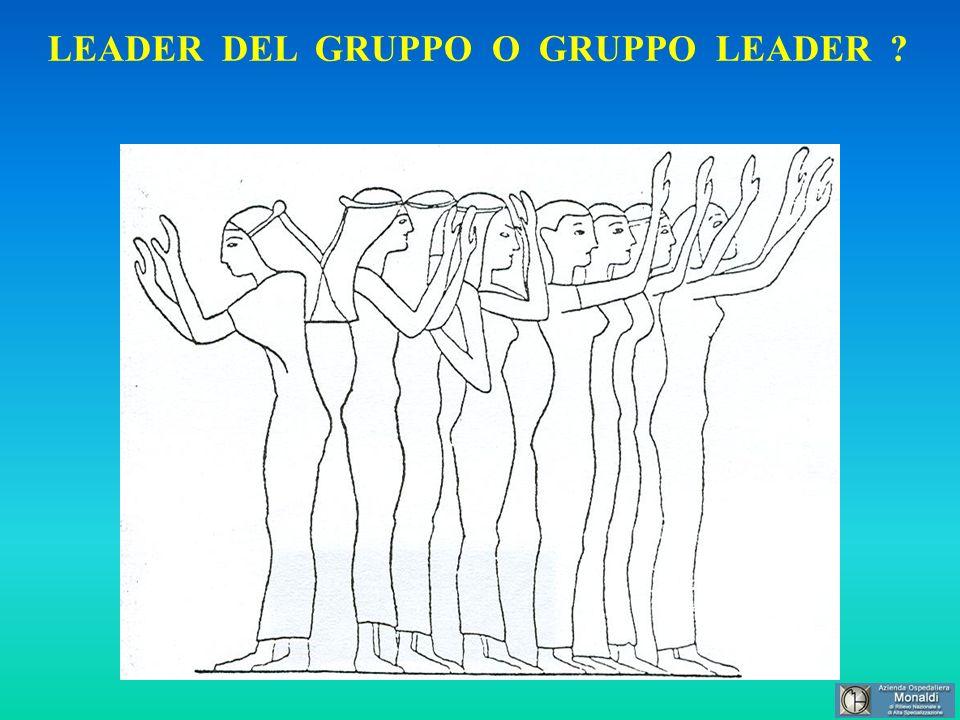 LEADER DEL GRUPPO O GRUPPO LEADER ?