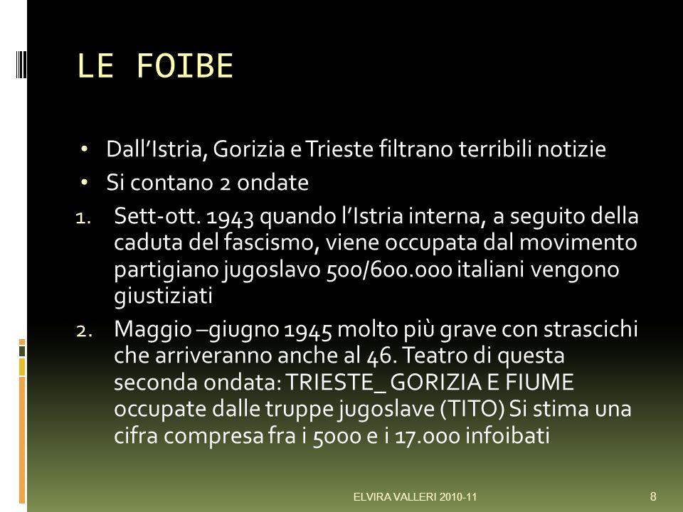 LE FOIBE DallIstria, Gorizia e Trieste filtrano terribili notizie Si contano 2 ondate 1.