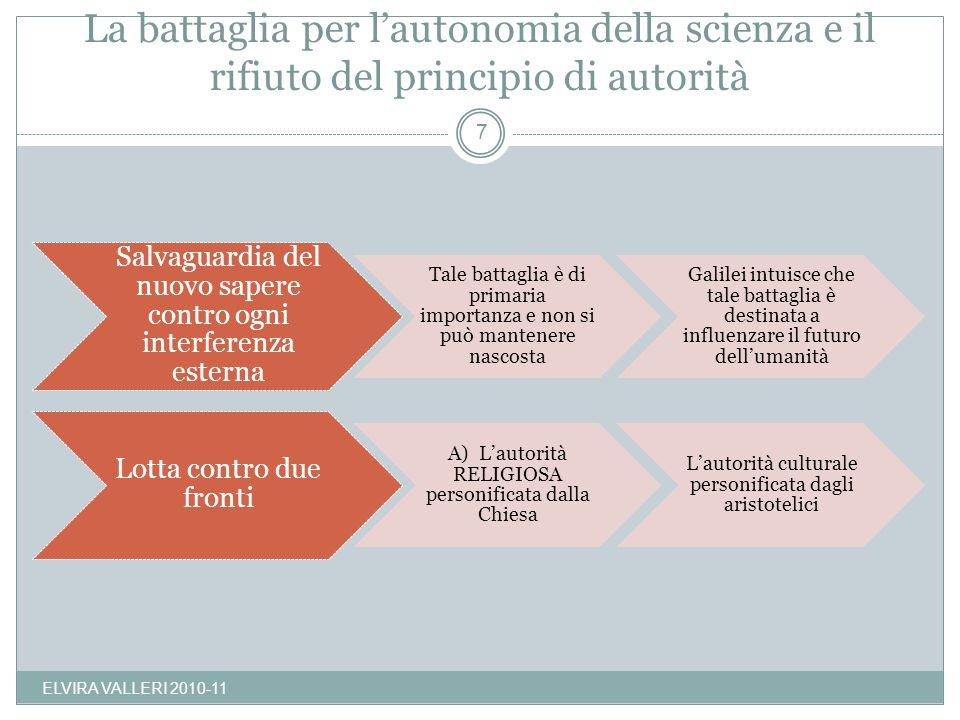 La battaglia per lautonomia della scienza e il rifiuto del principio di autorità Salvaguardia del nuovo sapere contro ogni interferenza esterna Tale b