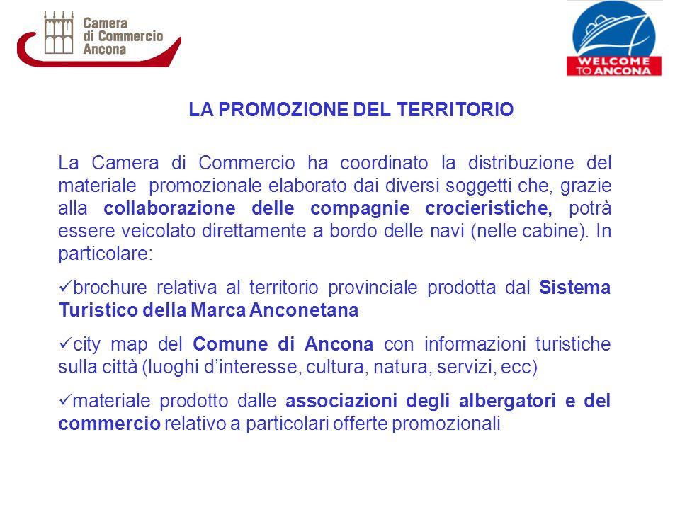 LA PROMOZIONE DEL TERRITORIO La Camera di Commercio ha coordinato la distribuzione del materiale promozionale elaborato dai diversi soggetti che, graz