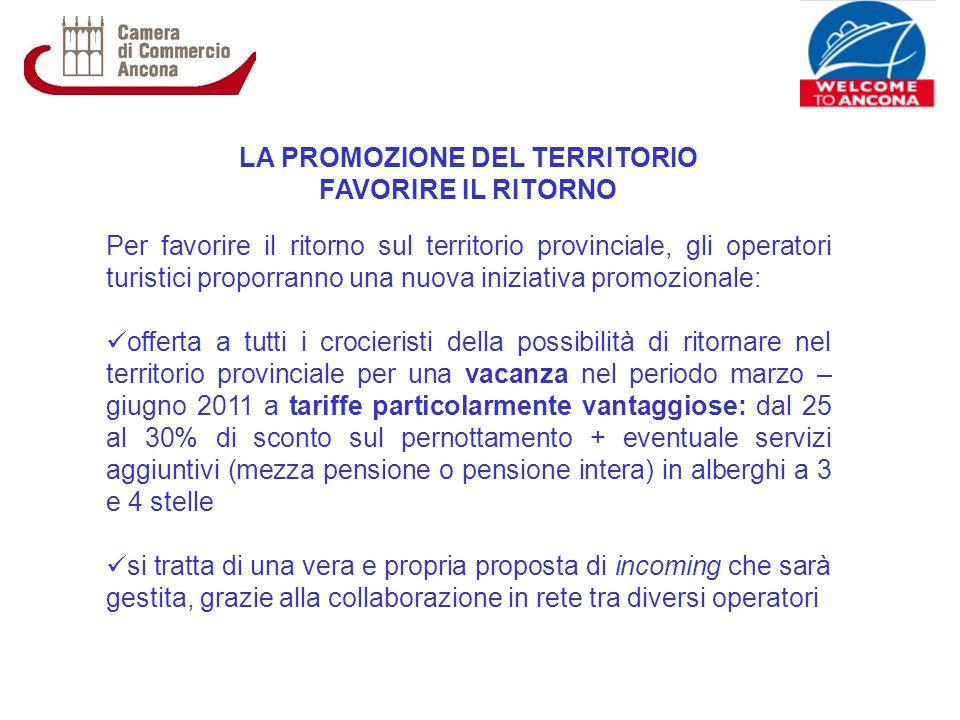LA PROMOZIONE DEL TERRITORIO FAVORIRE IL RITORNO Per favorire il ritorno sul territorio provinciale, gli operatori turistici proporranno una nuova ini