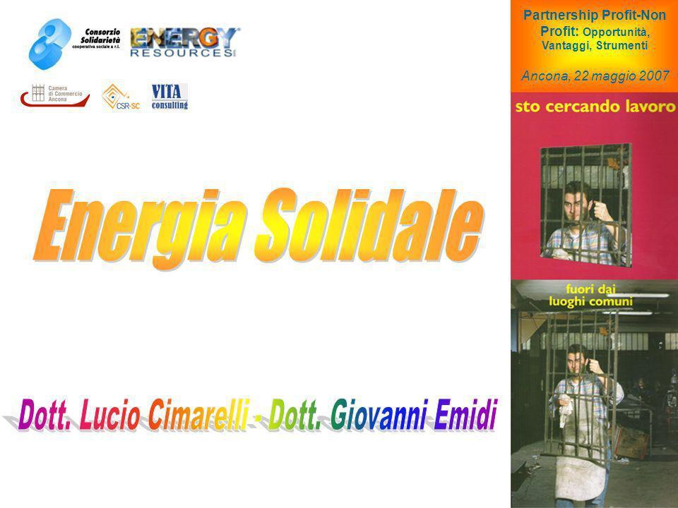 Partnership Profit-Non Profit: Opportunità, Vantaggi, Strumenti Ancona, 22 maggio 2007
