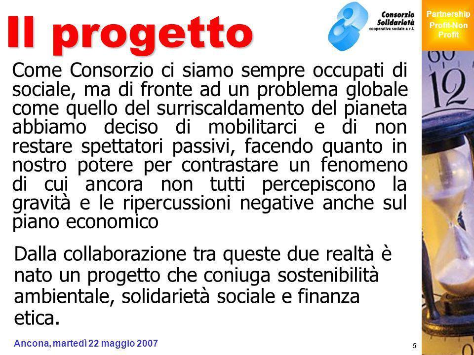 Giochi Senza Barriere Partnership Profit-Non Profit Ancona, martedì 22 maggio 2007 5 Il progetto Come Consorzio ci siamo sempre occupati di sociale, m
