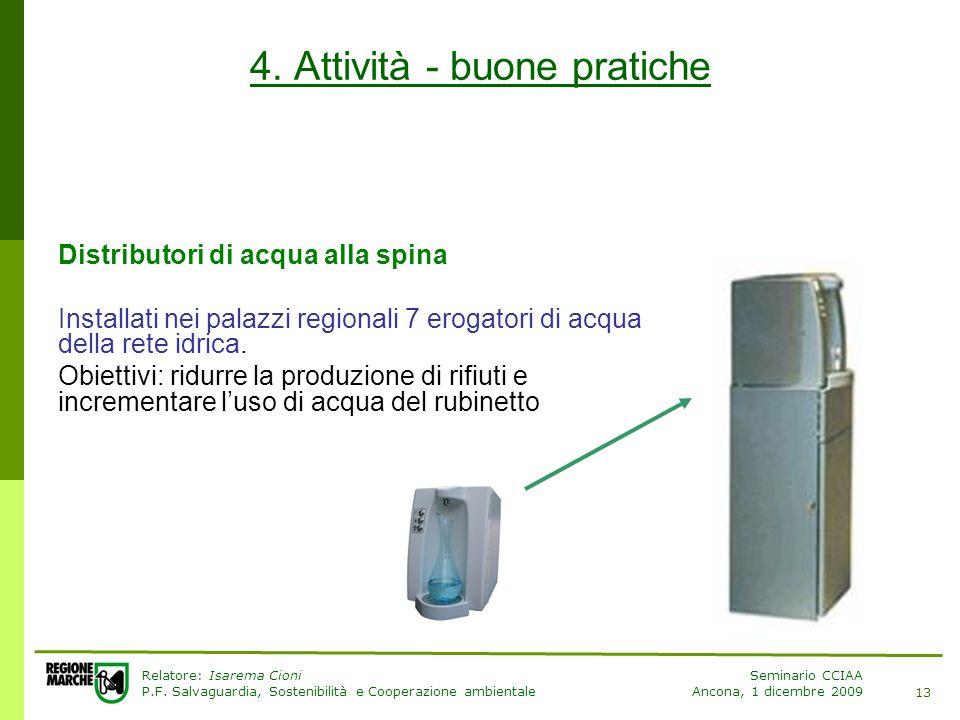 Relatore: Isarema Cioni P.F.