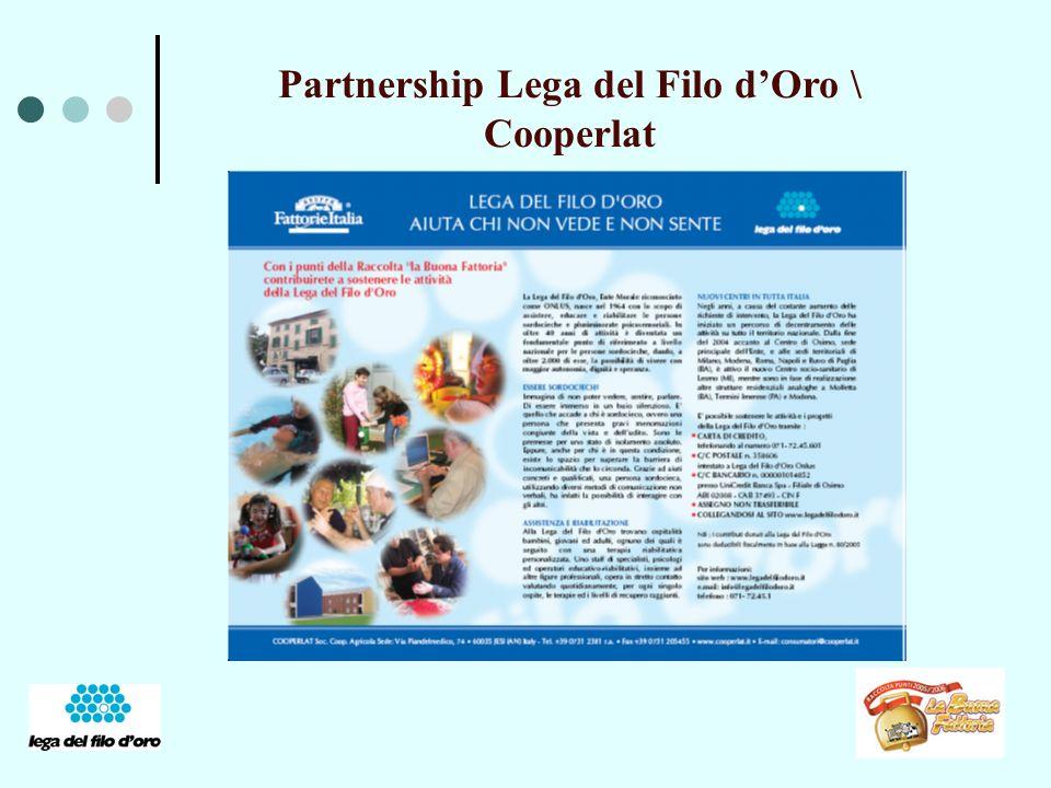Partnership Lega del Filo dOro \ Cooperlat