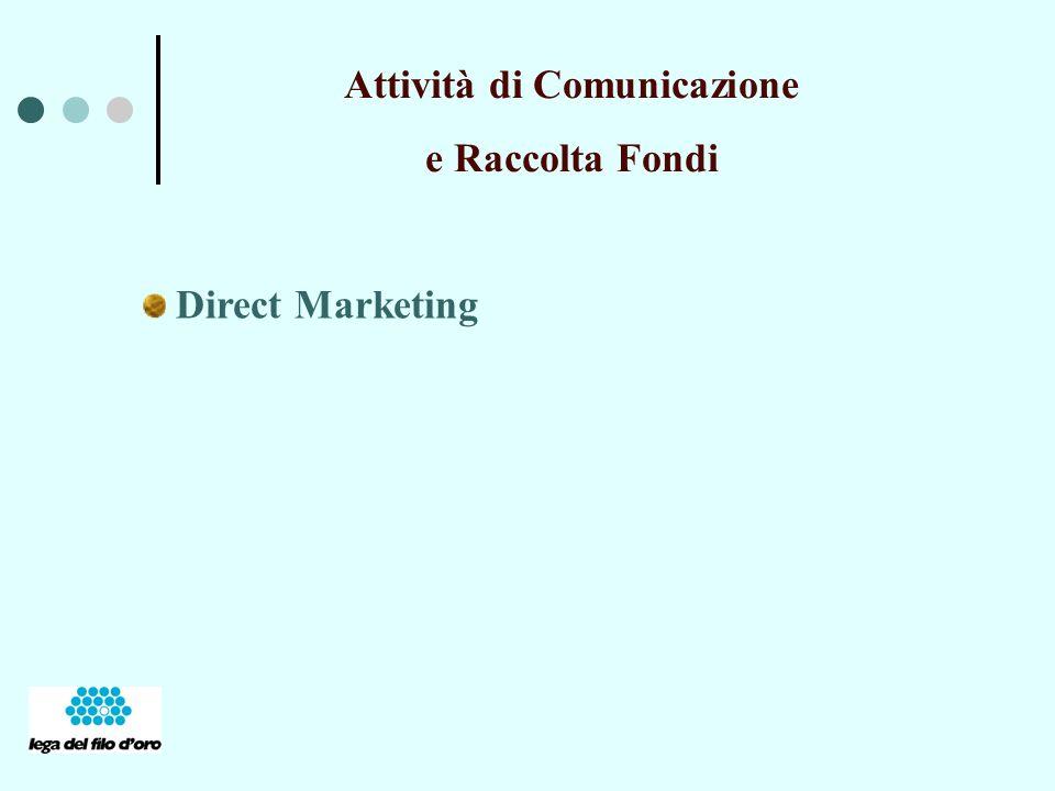 Attività di Comunicazione e Raccolta Fondi Direct Marketing