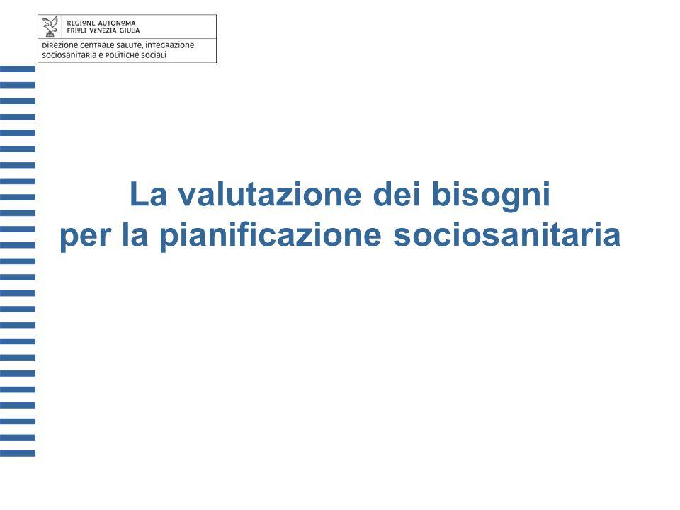 La valutazione dei bisogni per la pianificazione sociosanitaria