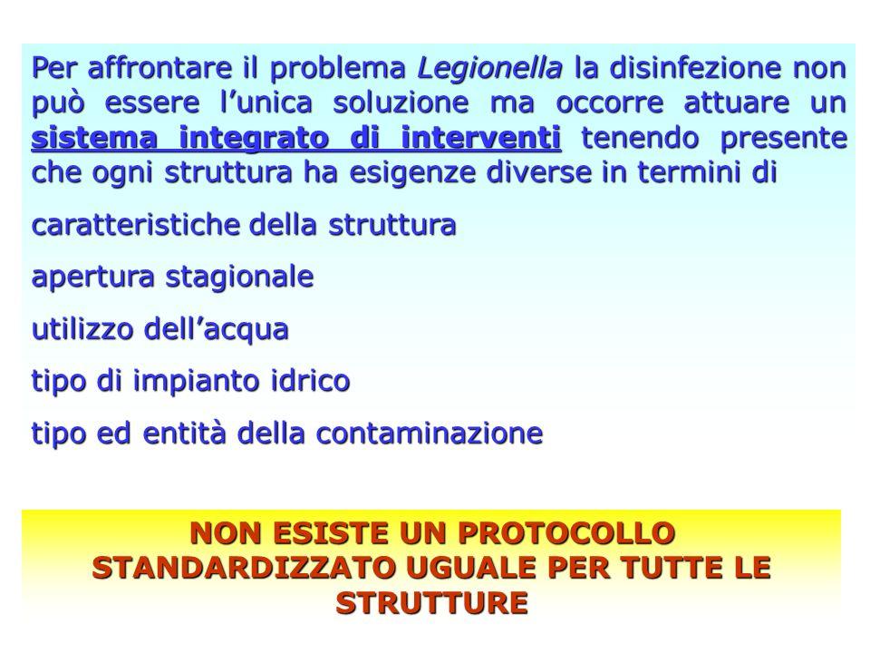 Per affrontare il problema Legionella la disinfezione non può essere lunica soluzione ma occorre attuare un sistema integrato di interventi tenendo pr