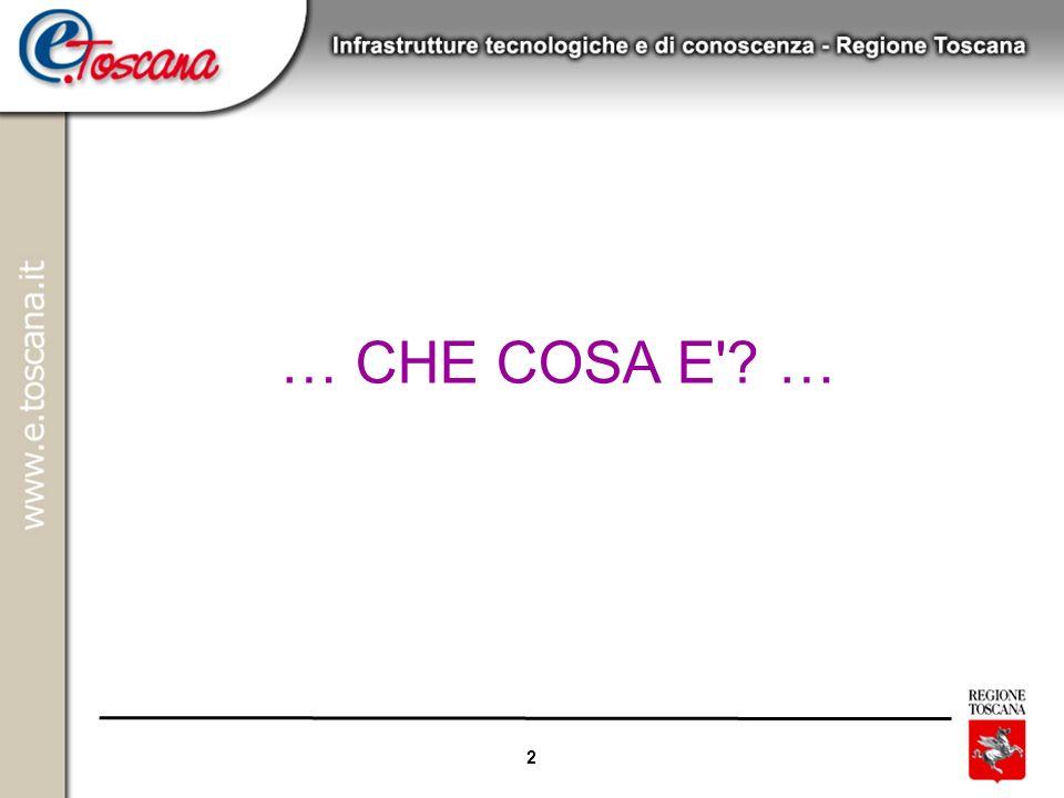 2 … CHE COSA E'? …