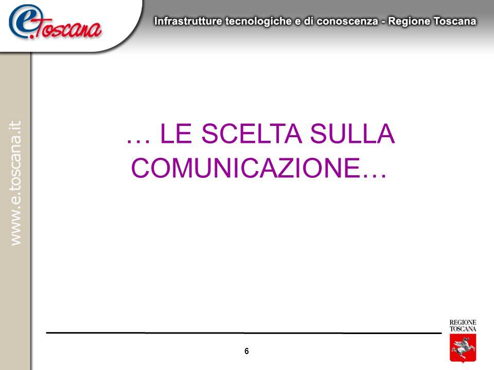 6 … LE SCELTA SULLA COMUNICAZIONE…