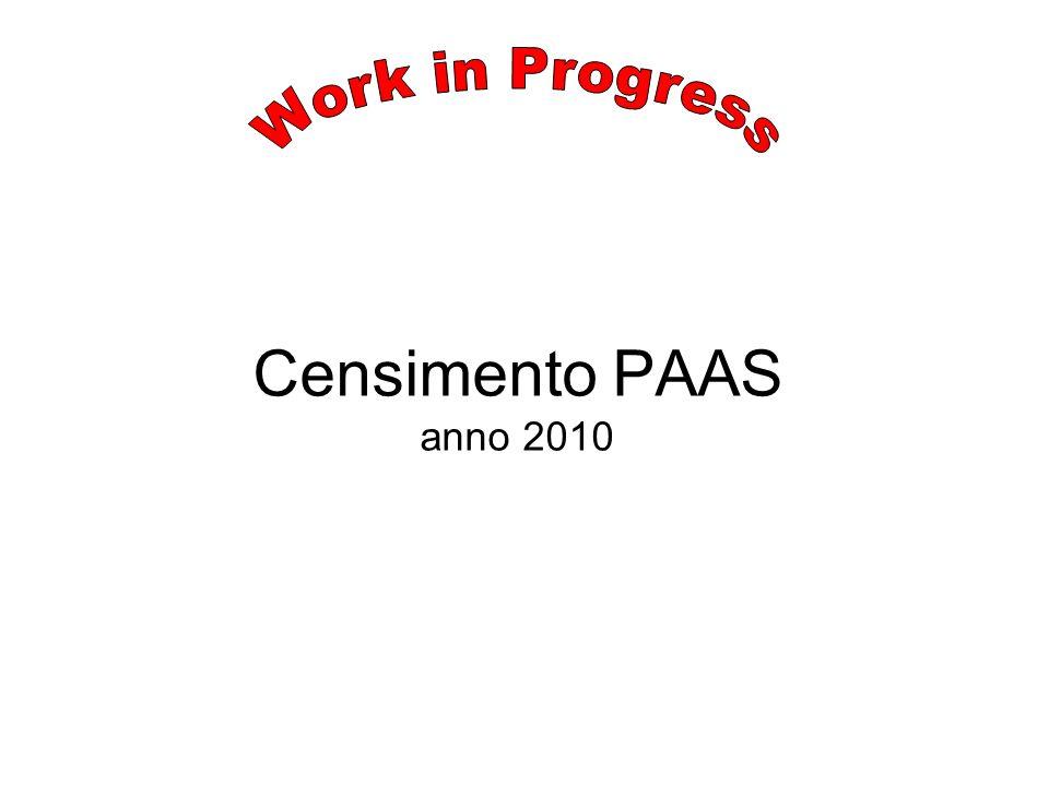 Censimento PAAS anno 2010