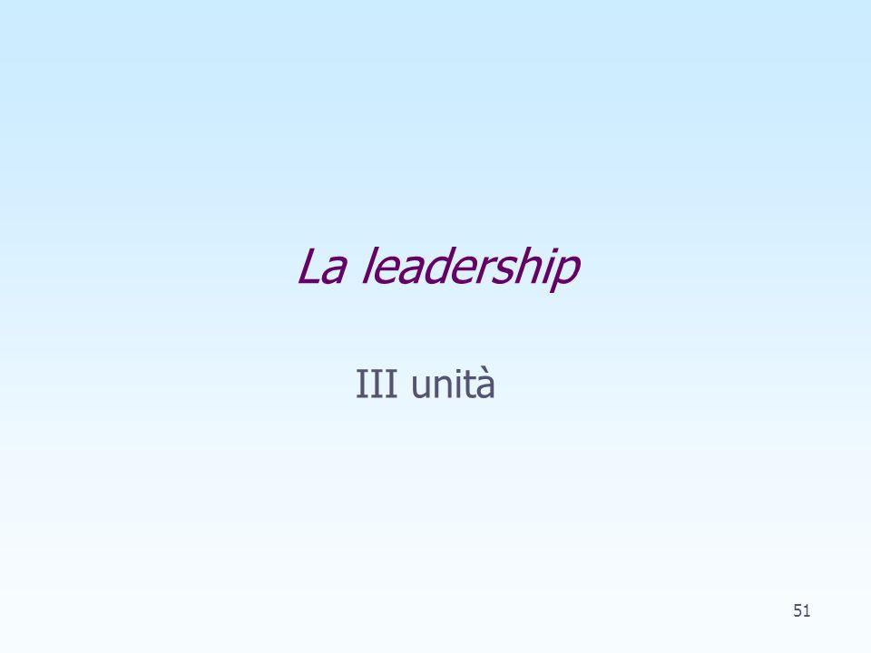 III unità La leadership 51