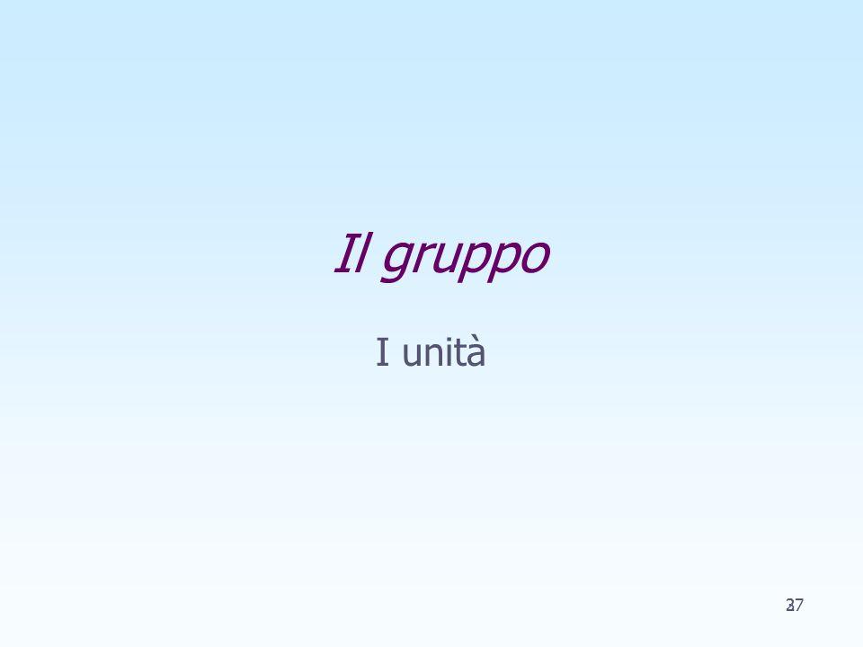 Il gruppo I unità 237