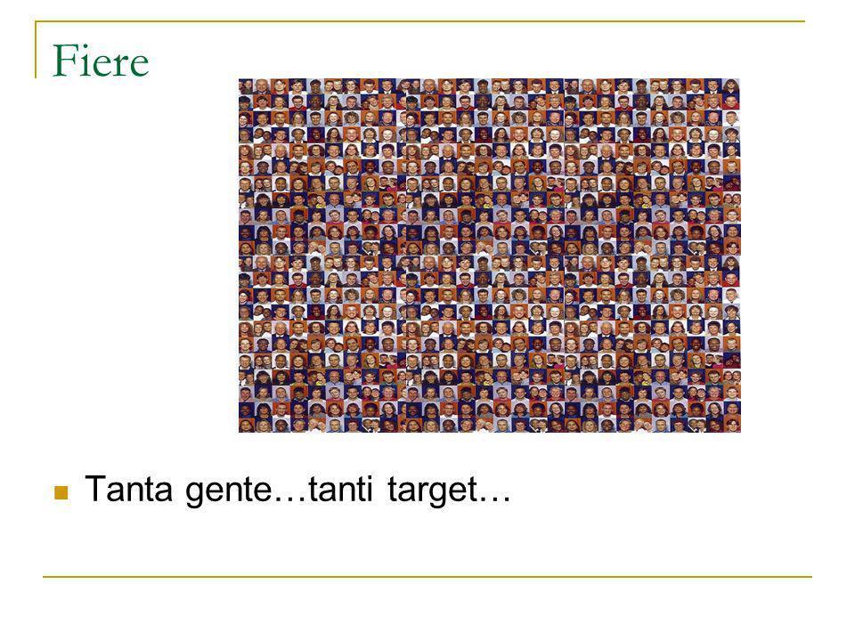 Fiere Tanta gente…tanti target…