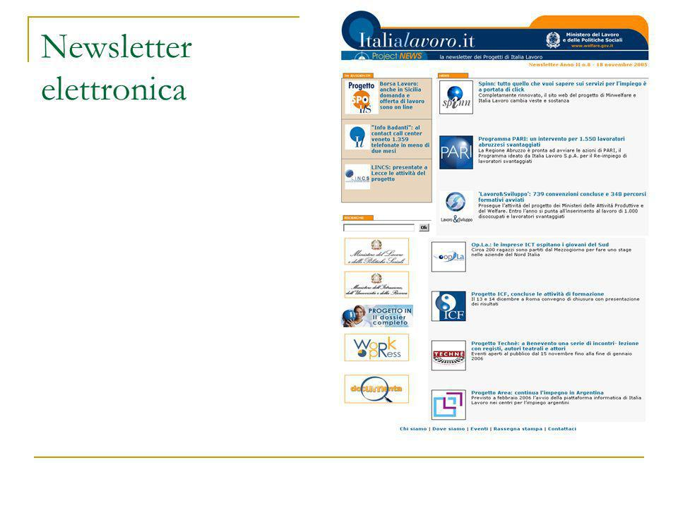 Newsletter elettronica