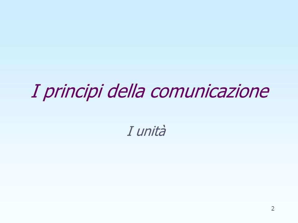 Obiettivi Conoscere i principi della comunicazione Prendere consapevolezza dellimportanza della relazione allinterno dei processi comunicativi Compren