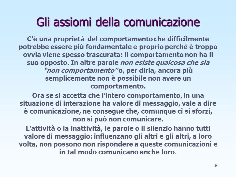 Le barriere nella comunicazione: larco di distorsione ER Arco di distorsione Ciò che intende comunicare Ciò che viene percepito Manager Collaboratore 18