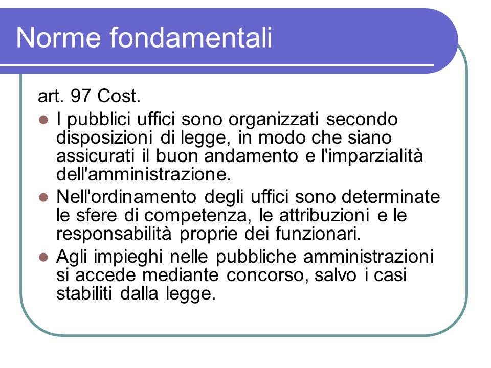 Norme fondamentali art. 97 Cost.