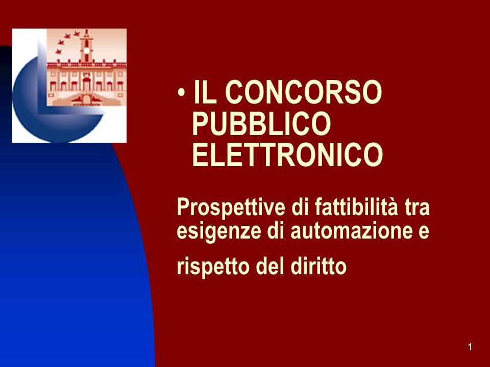 2 Introduzione Definizione Oggetto e scopi dello Studio Cenni alla normativa sui concorsi nella P.A.