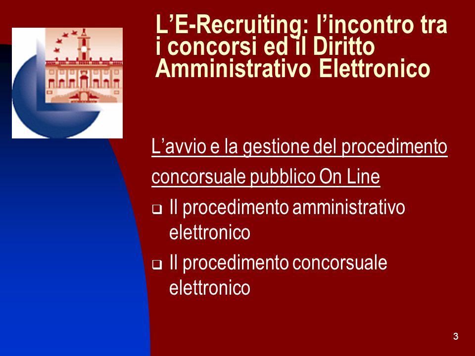 14 Prospettive Tecnico Giuridiche di realizzabilità del Concorso On Line II Step: download delle informazioni e della modulistica Art.