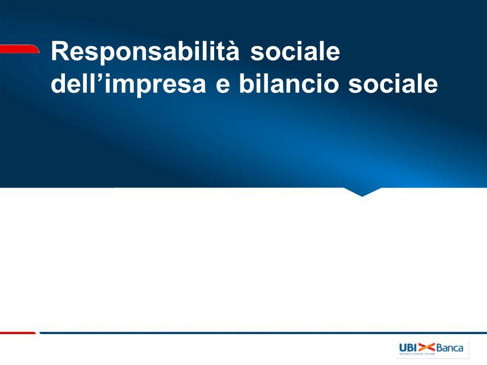 Responsabilità sociale dellimpresa e bilancio sociale