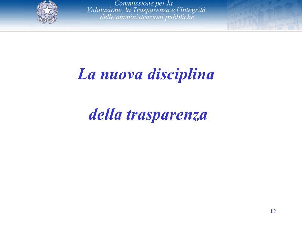 12 La nuova disciplina della trasparenza