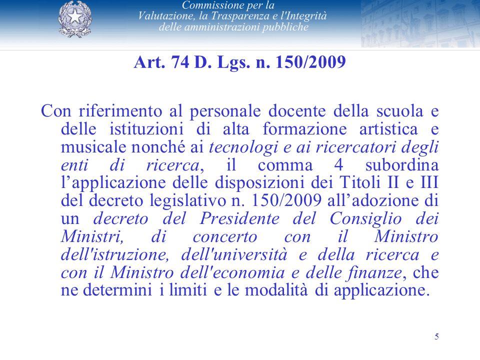 5 Art. 74 D. Lgs. n.