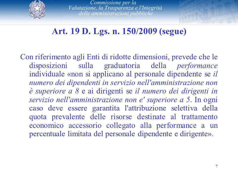 7 Art.19 D. Lgs. n.