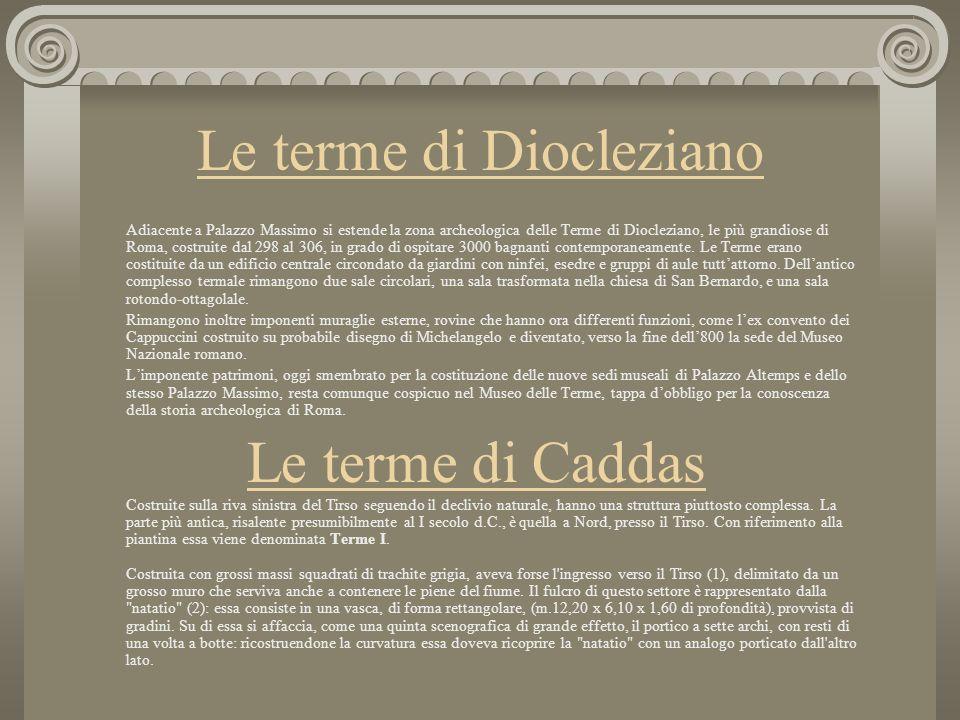 Il primo esempio completo nella sua struttura ci viene da Pompei, con le terme dette stabbiane del II secolo a.C.; ma fu poi soprattutto nella Roma im