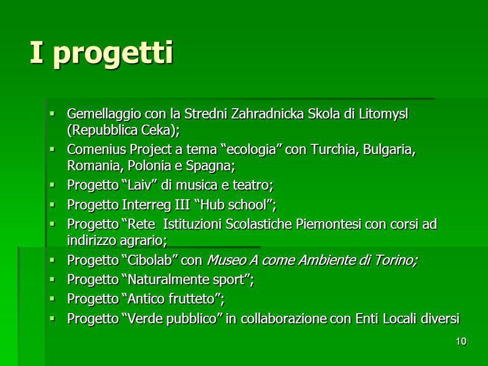 10 I progetti Gemellaggio con la Stredni Zahradnicka Skola di Litomysl (Repubblica Ceka); Gemellaggio con la Stredni Zahradnicka Skola di Litomysl (Re