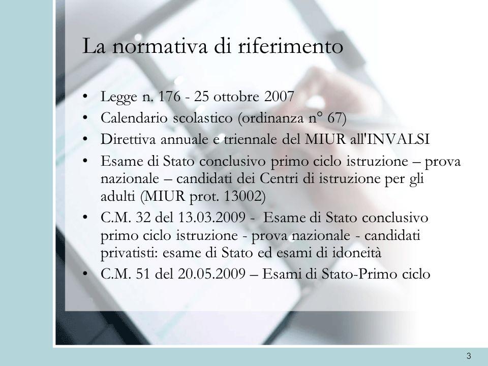 4 La documentazione a disposizione sul sito dellINVALSI Prova Nazionale a.s.
