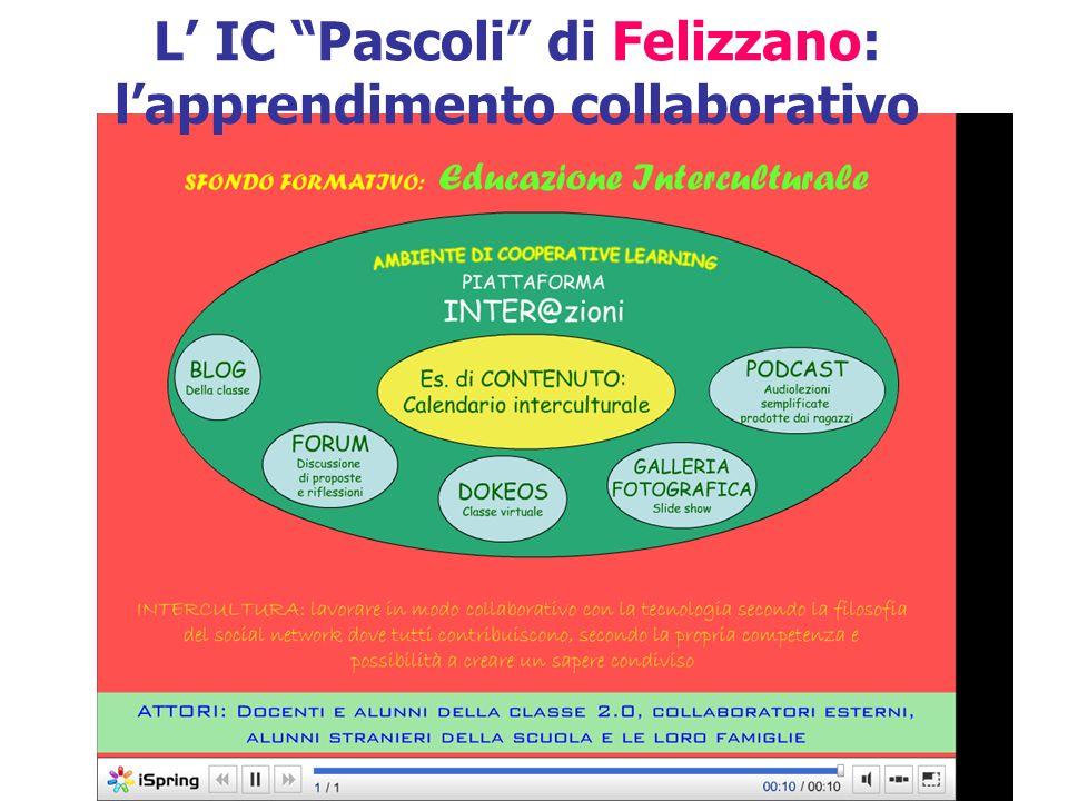 L IC Pascoli di Felizzano: lapprendimento collaborativo