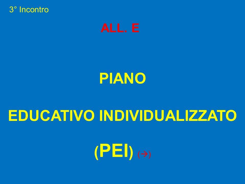3° Incontro ALL. E PIANO EDUCATIVO INDIVIDUALIZZATO ( PEI ) ( )