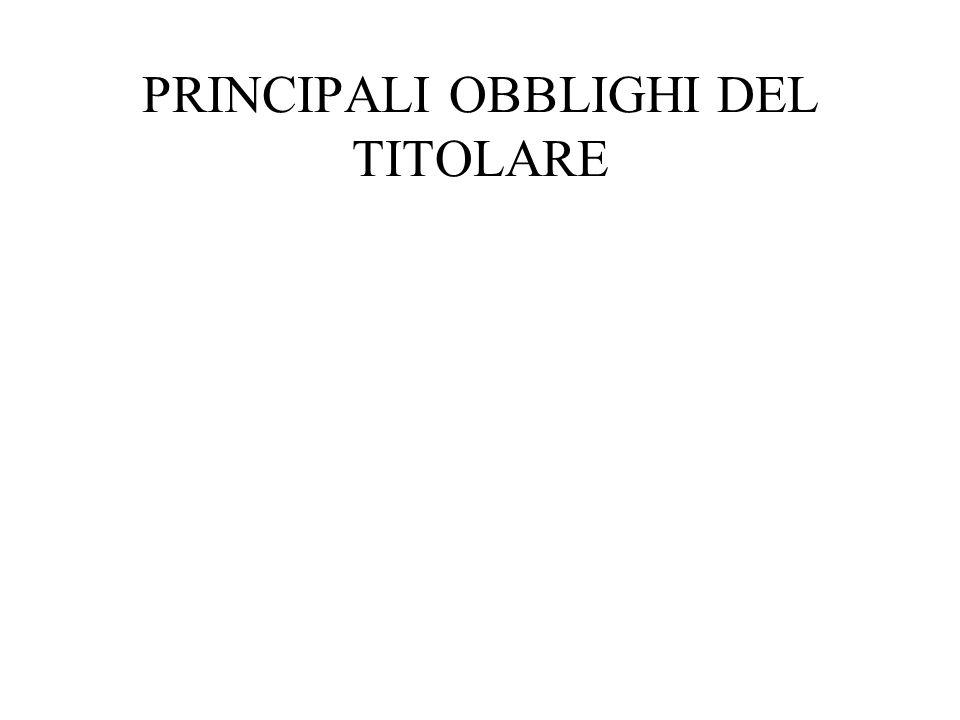 OBBLIGO DI FORNIRE INFORMATIVA Linformativa (art.
