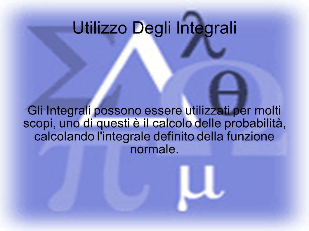 Utilizzo Degli Integrali Gli Integrali possono essere utilizzati per molti scopi, uno di questi è il calcolo delle probabilità, calcolando l'integrale