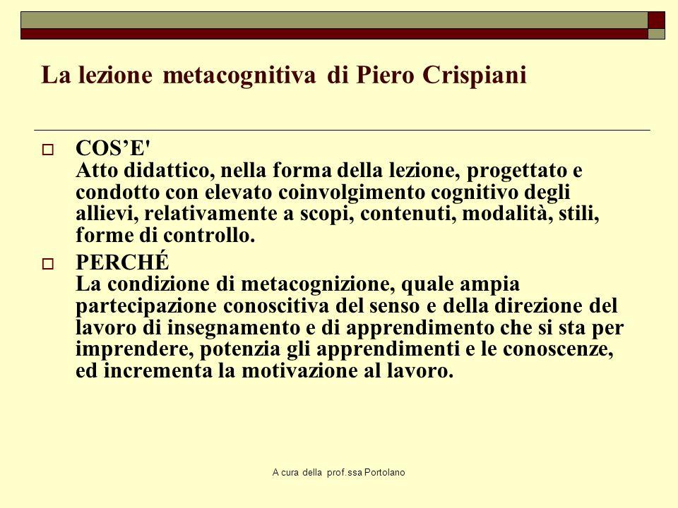 A cura della prof.ssa Portolano Accelerazione cognitiva Si deve principalmente allautorevole studioso piagetiano J.H. Flavell lassunzione del termine