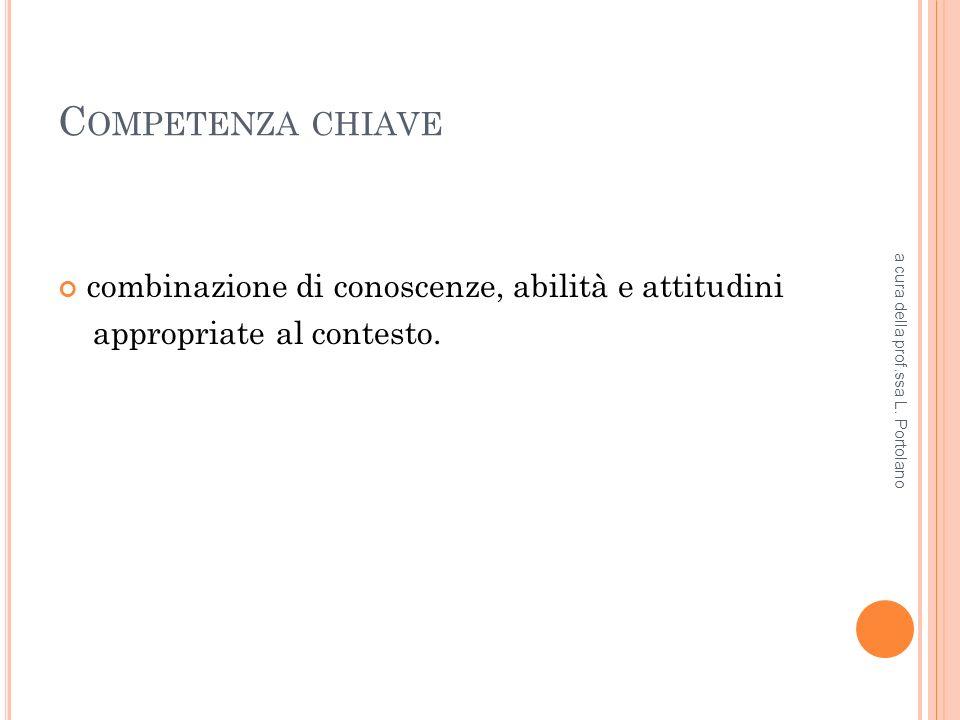 O TTO COMPETENZE CHIAVE 1.comunicazione nella madre lingua; 2.