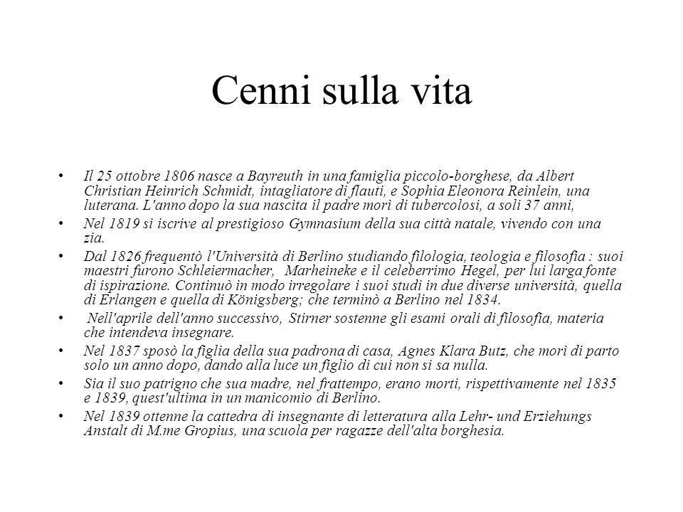 Cenni sulla vita Il 25 ottobre 1806 nasce a Bayreuth in una famiglia piccolo-borghese, da Albert Christian Heinrich Schmidt, intagliatore di flauti, e
