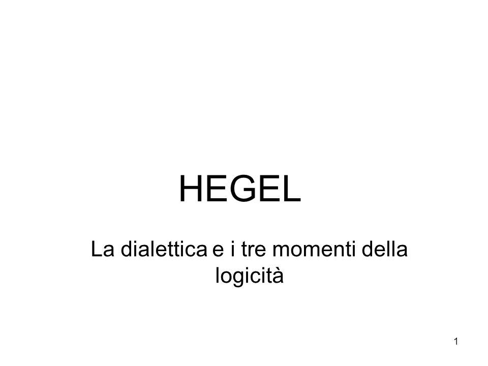 1 HEGEL La dialettica e i tre momenti della logicità