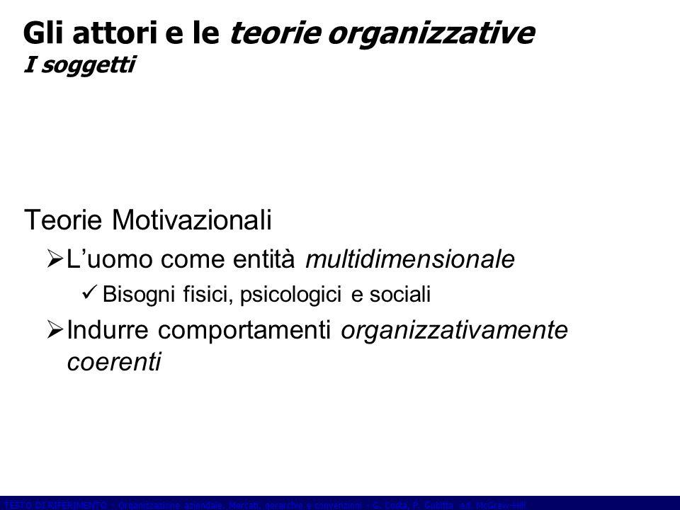 TESTO DI RIFERIMENTO - Organizzazione aziendale.Mercati, gerarchie e convenzioni - G.