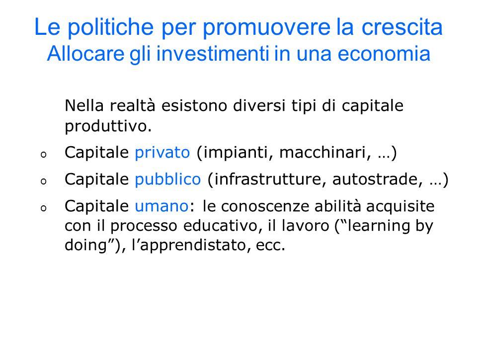 Nella realtà esistono diversi tipi di capitale produttivo.