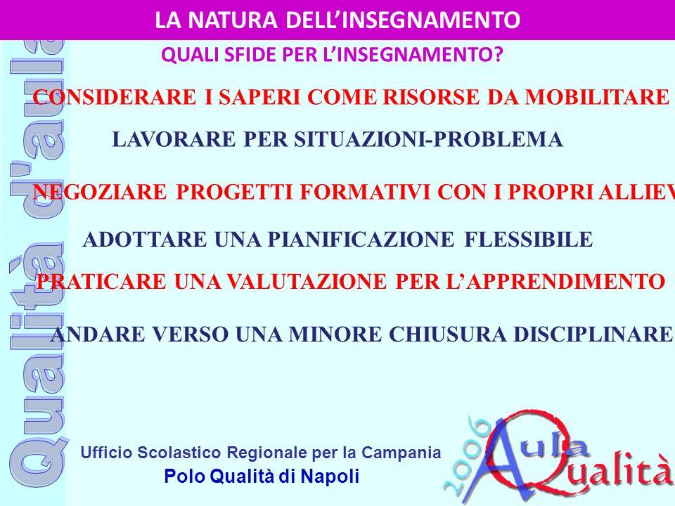 Ufficio Scolastico Regionale per la Campania Polo Qualità di Napoli LA NATURA DELLINSEGNAMENTO QUALI SFIDE PER LINSEGNAMENTO? CONSIDERARE I SAPERI COM