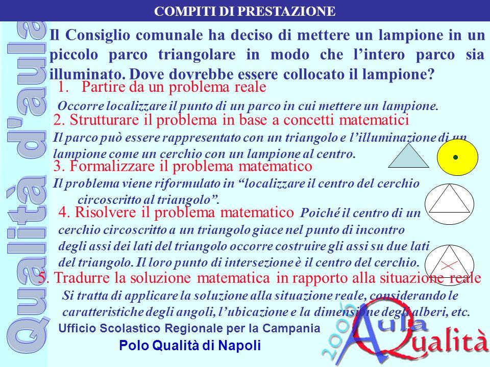 Ufficio Scolastico Regionale per la Campania Polo Qualità di Napoli Il Consiglio comunale ha deciso di mettere un lampione in un piccolo parco triango