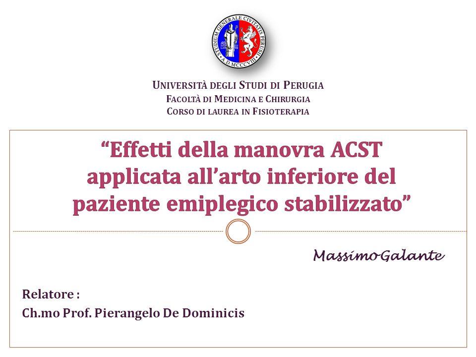 Massimo Galante Foligno 29/11/2010 Relatore : Ch.mo Prof.