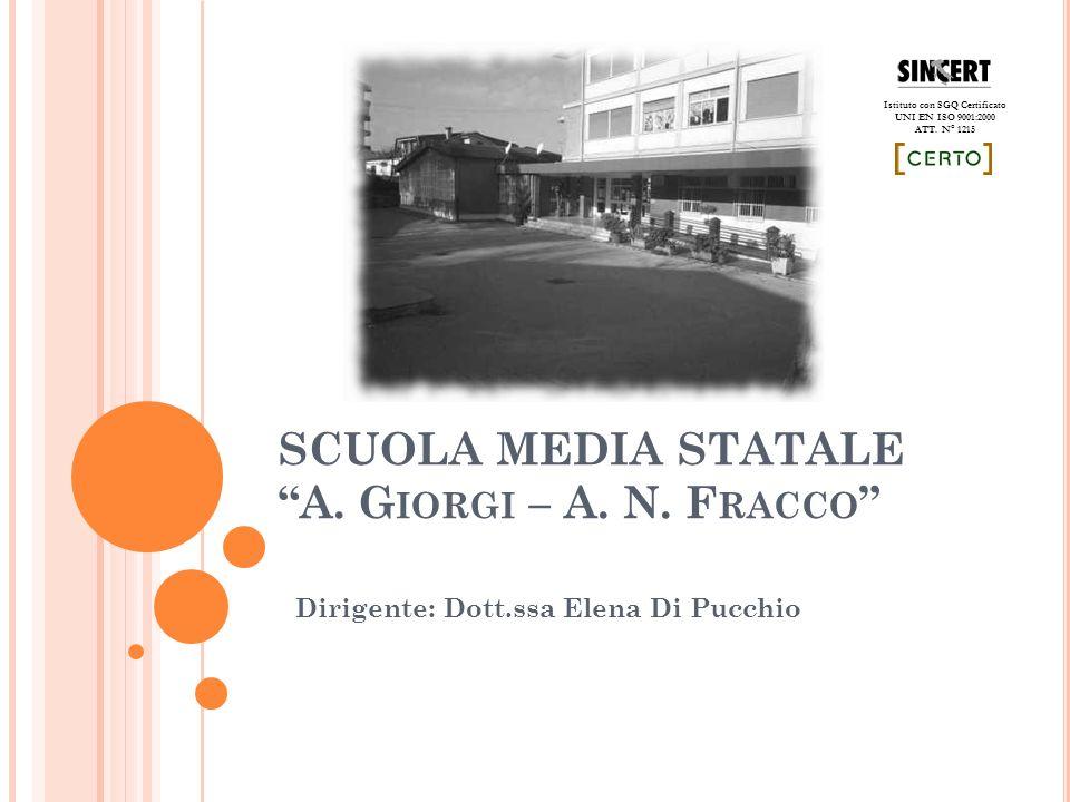 SCUOLA MEDIA STATALE A. G IORGI – A. N.