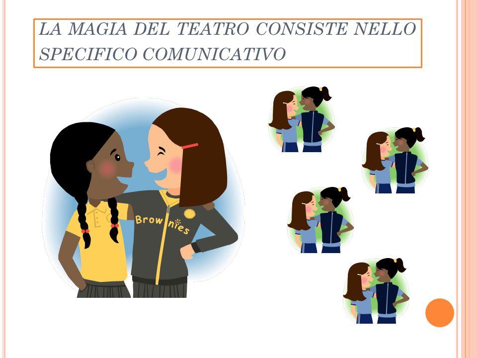 LA MAGIA DEL TEATRO CONSISTE NELLO SPECIFICO COMUNICATIVO